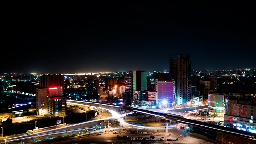 Trade in Africa, Accra by night